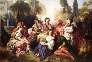 The Decameron, olio su tela del 1937 di Franz Xaver Winterhalter