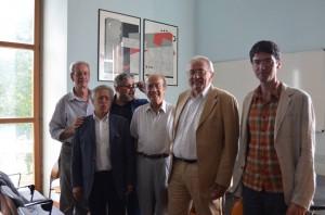 Da sinistra Gianni Palumbo, Eugenio De Crescenzo, Sandro Zioni, Alfonso Pascale, Alberto Valentini e Alberto Fasolo